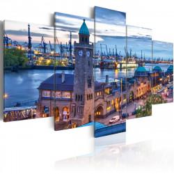 Obraz  Německo, Hamburk, přístav