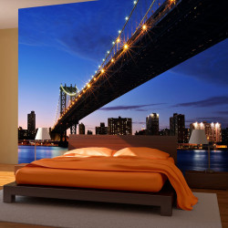 Fototapeta  Manhattan Bridge illuminated at night