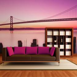Fototapeta  San Francisco Bay in violet, California
