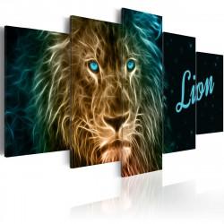 Obraz  Gold lion