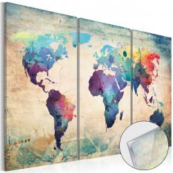 Obraz na akrylátovém skle  Rainbow Map [Glass]