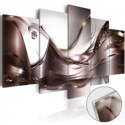 Obraz na akrylátovém skle  Golden Storm [Glass]