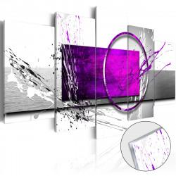 Obraz na akrylátovém skle  Purple Expression [Glass]