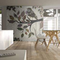 Fototapeta  Tree branch with bird (patchwork)