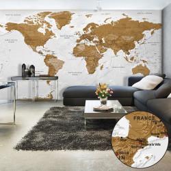 Fototapeta XXL  World Map White Oceans II