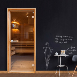 Fototapeta na dveře  Sauna