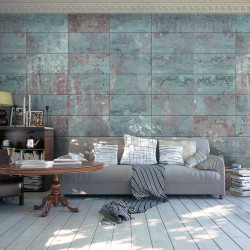 Fototapeta - Turquoise Concrete