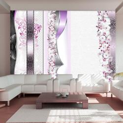 Fototapeta - Parade of orchids in violet