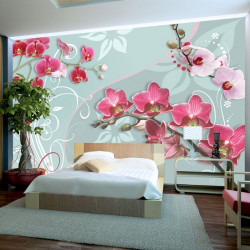 Fototapeta - Pink orchids - variation II