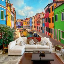 Fototapeta   Colorful Canal in Burano