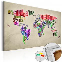 Obraz na korku - Global Tournée (EN) [Cork Map]