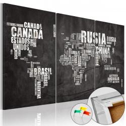 Obraz na korku - El Mundo [Cork Map]