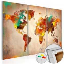 Obraz na korku - Painted World [Cork Map]