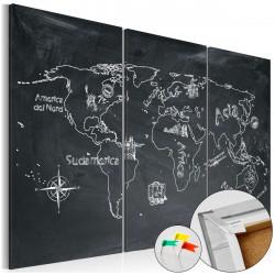 Obraz na korku - Geography lesson [Cork Map]