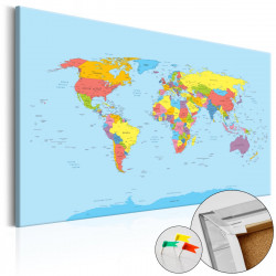 Obraz na korku - Rainbow Geography [Cork Map]