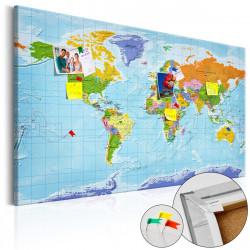 Obraz na korku - World Map: Countries Flags [Cork Map]