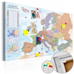 Obraz na korku - World Maps: Europe [Cork Map]