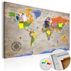 Obraz na korku - World Map: Retro Style [Cork Map]