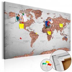 Obraz na korku - Brick World [Cork Map]