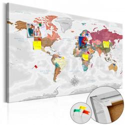 Obraz na korku - Travel Around the World [Cork Map]