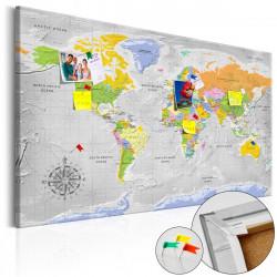Obraz na korku - World Map: Wind Rose [Cork Map]