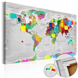 Obraz na korku - Maps: Colourful Finesse [Cork Map]