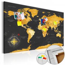 Obraz na korku - Golden World [Cork Map]