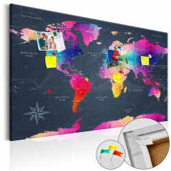 Obraz na korku - Colourful Crystals [Cork Map]