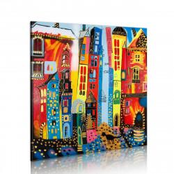 Ručně malovaný obraz Magic street 428d7022fa