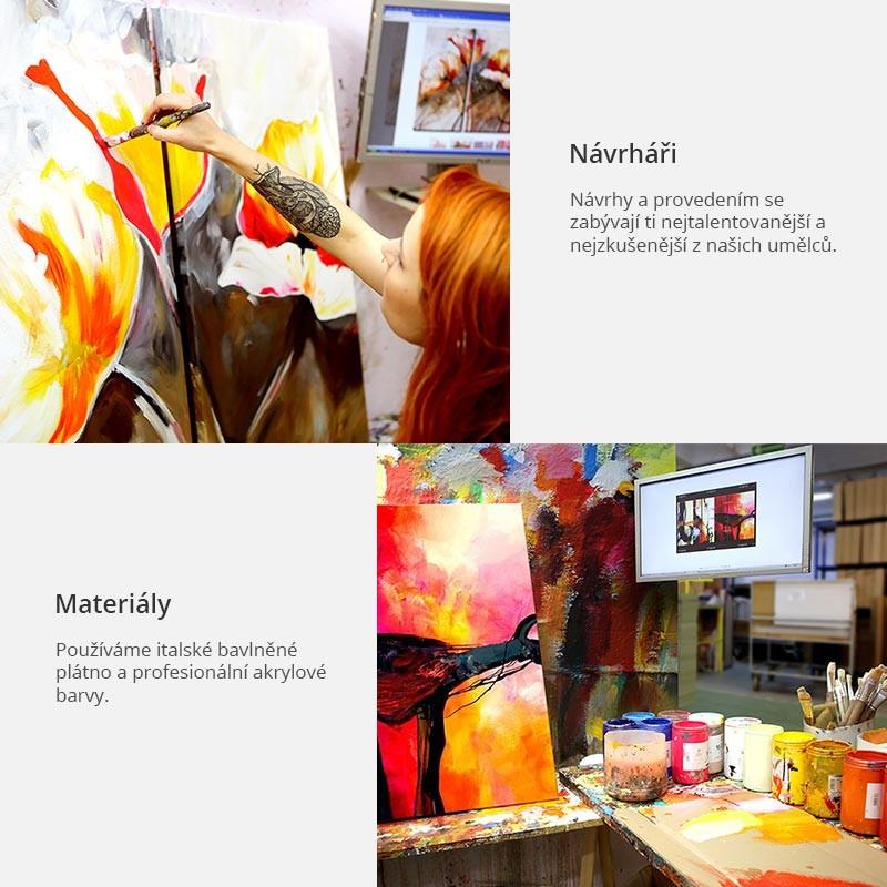 Ručně malovaný obraz - Vesnice v podzimních barvech - 4wall.cz d897292fbb