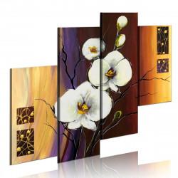 Ručně malovaný obraz  Bílá orchidea