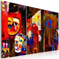 Ručně malovaný obraz  Abstract Carnival