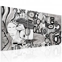Ručně malovaný obraz  Silver Kiss