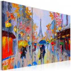 Ručně malovaný obraz  Rainy Paris