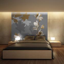 Fototapeta - Dancing shadows of magnolias