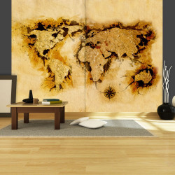 Fototapeta  Golddiggers map of the World