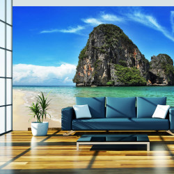 Fototapeta - Exotic landscape in Thailand, Railay beach