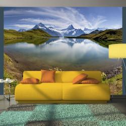 Fototapeta  Lake with mountain reflection, Switzerland