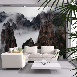 Fototapeta  Sea of clouds in Huangshan Mountain, China