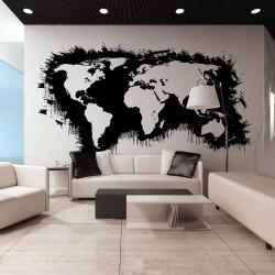 Fototapeta  White continents, black oceans...