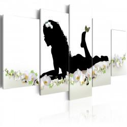 Obraz  Dívka a květiny