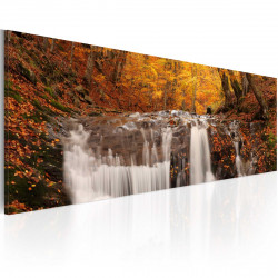 Obraz  Podzim a vodopád
