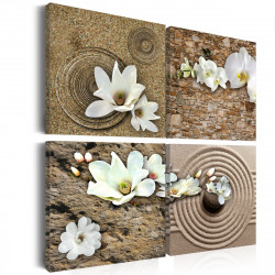 Obraz  Bílé květiny
