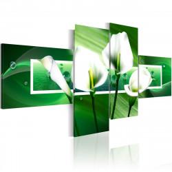 Obraz  Kaly na zeleném pozadí