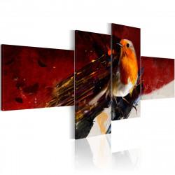 Obraz  Oranžový ptáček