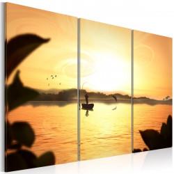 Obraz  Rybář při západu slunce