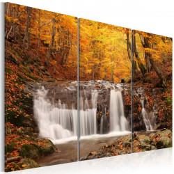 Obraz - Vodopád mezi podzimními stromy