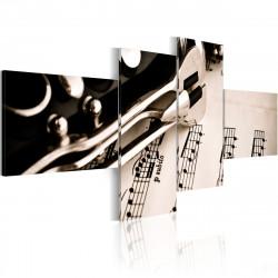 Obraz  Klarinet a partitura