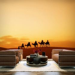 Fototapeta  Caravan on Sahara desert