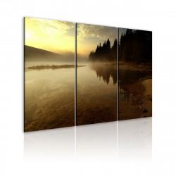 Obraz  Na břehu horského jezera